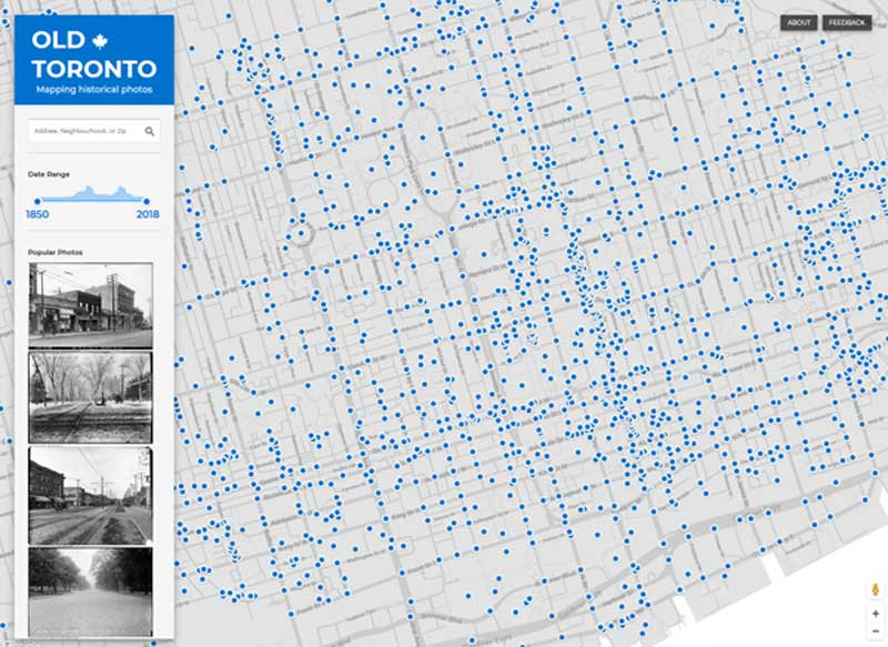 """New """"Old Toronto"""" Photo Archive Map"""
