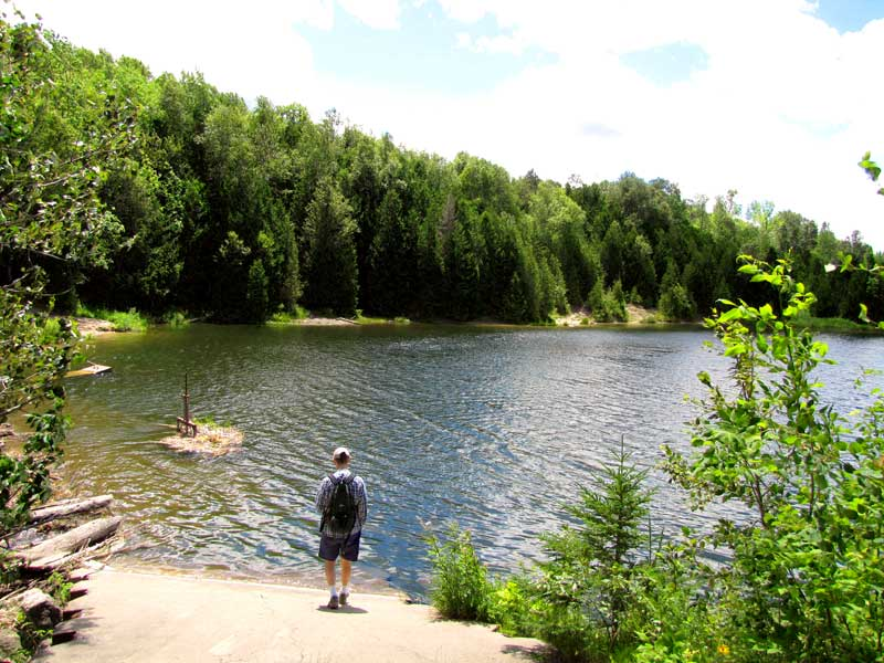 Pine River Fishing Pond at the ramp