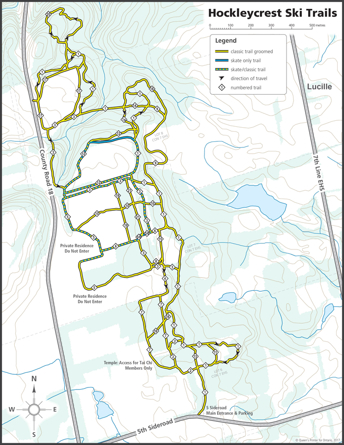 Hockleycrest Cross-country Ski Trail Network 2017/2018